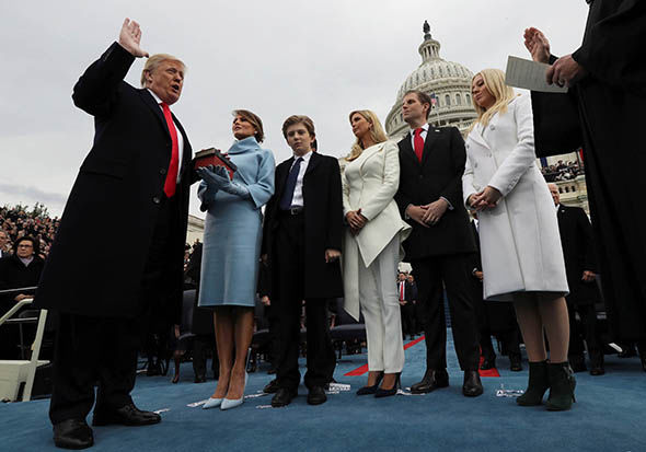 Donald Trump is sworn in