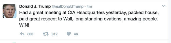 Image result for trump cia tweet