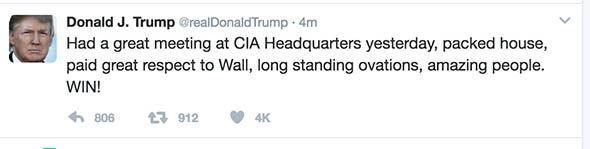 President Donald Trump on Twitter