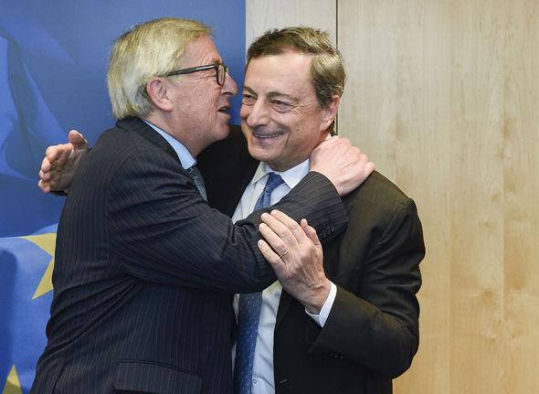Mario Draghi and Jean Claude-Juncker
