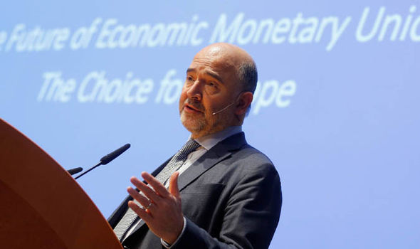 Pierre Moscovici speaking in Vienna