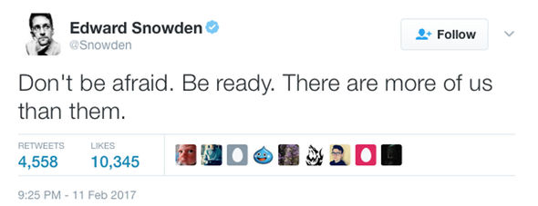 Edward Snowden's second tweet