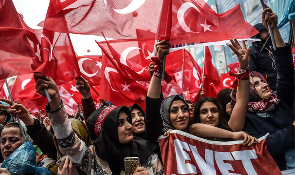 Pro-Erdogan supporters
