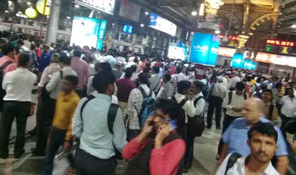 Passengers waiting for train
