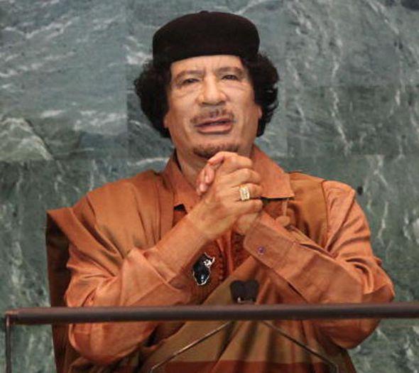 Former Libyan dictator Muammar Gaddafi