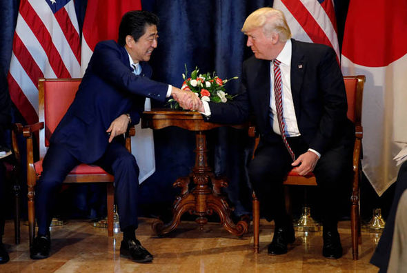 Trump met Japanese Prime Minister Shinzo Abe at