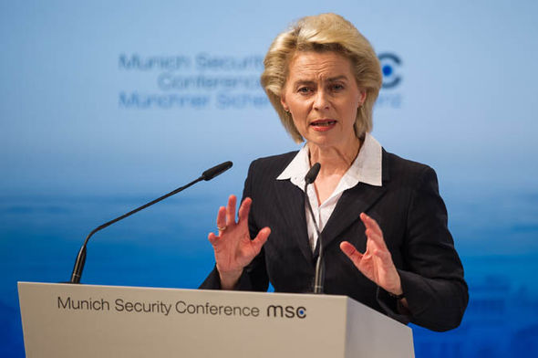 German defence secretary Ursula Von der Leyen