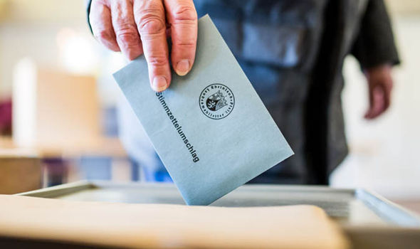 German casting a vote