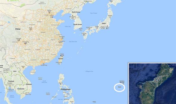 Guam map Where is Guam Will North Korea attack the US