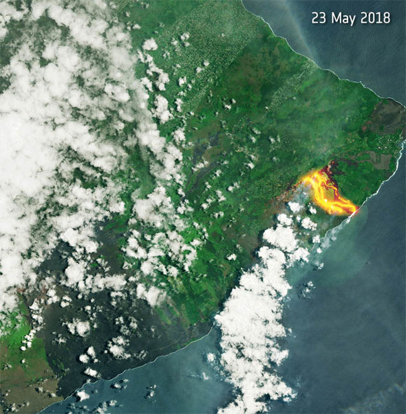 Hawaii volcano update: Aerial pictures Big Island