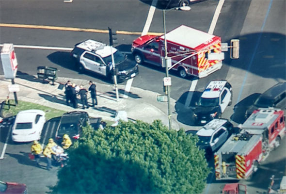 KTLA says three people are in hospital and one person is dead
