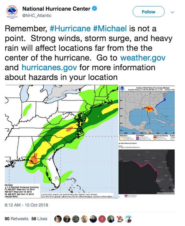 Map Of Hurricane Michael Damage : hurricane, michael, damage, Hurricane, Michael, LIVE:, DESTROYS, Florida, WORST, STORM, Georgia, World, Express.co.uk