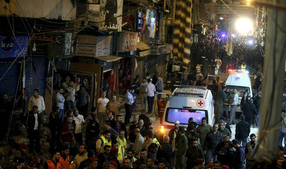 Two jihadis blew themselves up in a busy market in Beirut