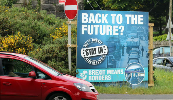 A Remain poster in Northern Ireland