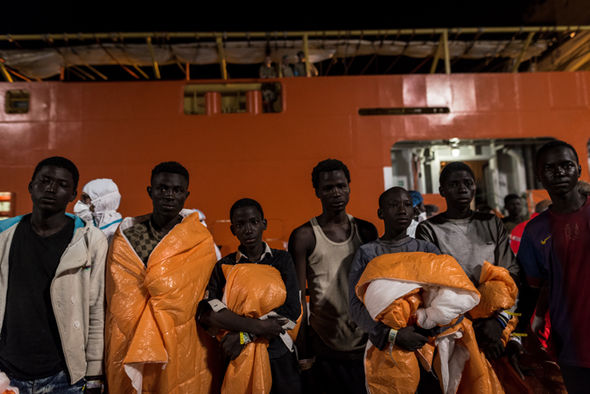 Migrants arrived in Italy