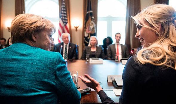 Ivanka Trump Angela Merkel