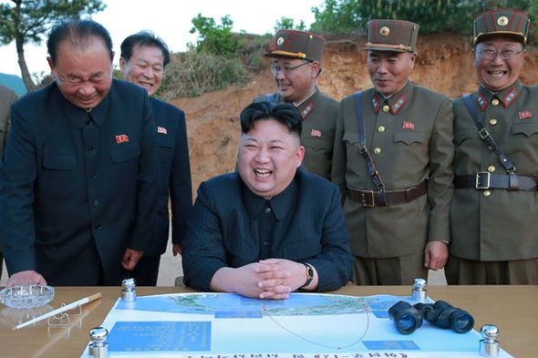 Kim Jong-un celebrates