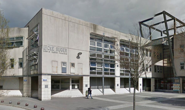 Lycee Suger was one of the schools attacked by protestors