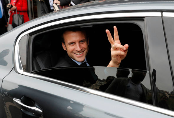 The latest poll by Ipsos Sopra Steria names Mr Macron as the frontrunner
