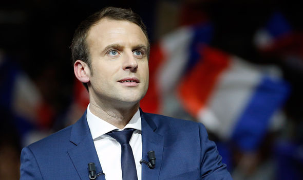 Macron, who has a wife, was forced to deny allegations he was having an affair with another man