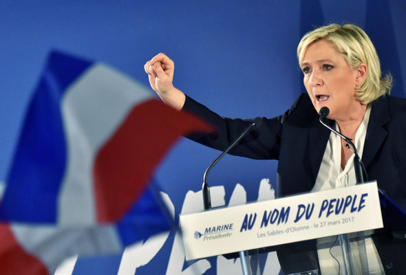 Polls widely predict Ms Le Pen to win the first round