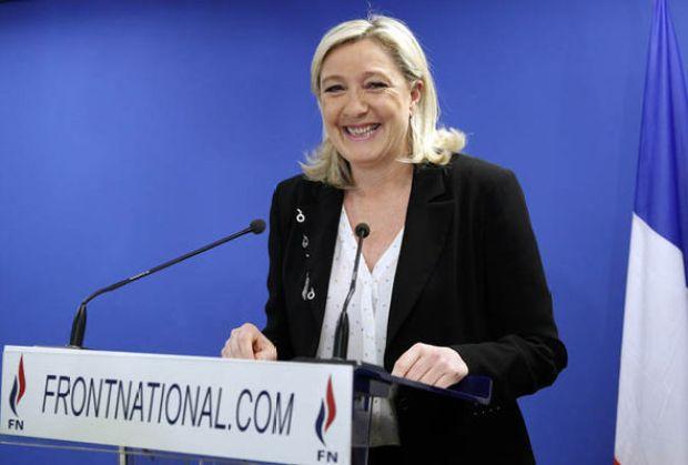 Marine Le Pen laughing