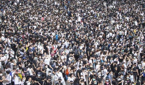 Mass protests Hong Kong