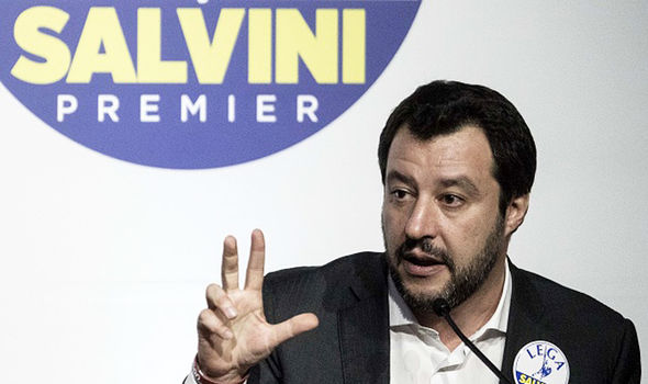 Matteo Salvini  EU disaster as Italy's populists set to JOIN FORCES | World | News Matteo Salvini 1272412