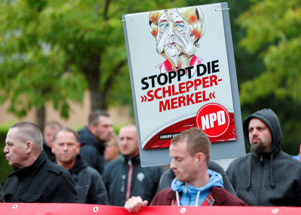 Merkel protests