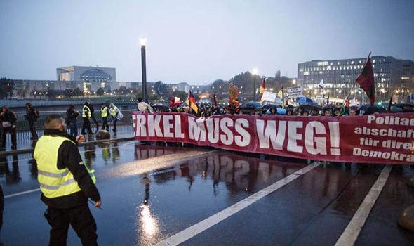 Anti Merkel March