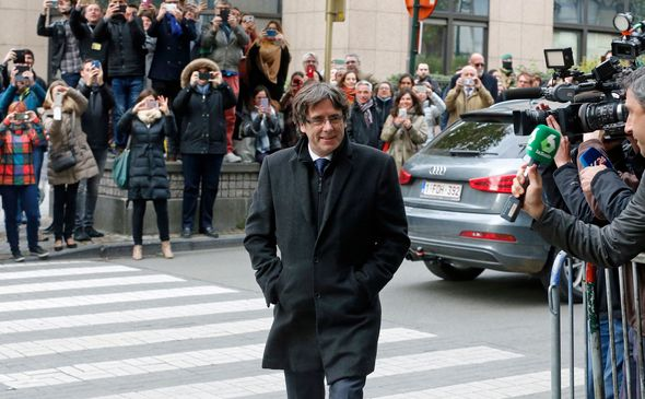 Mr Puigdemont said he wants an EU reaction to Catalan independence