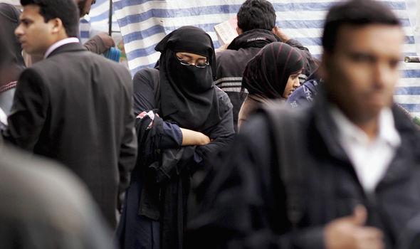 Muslim face veils