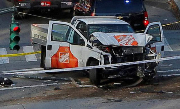 New York terror attack: Home Depot van