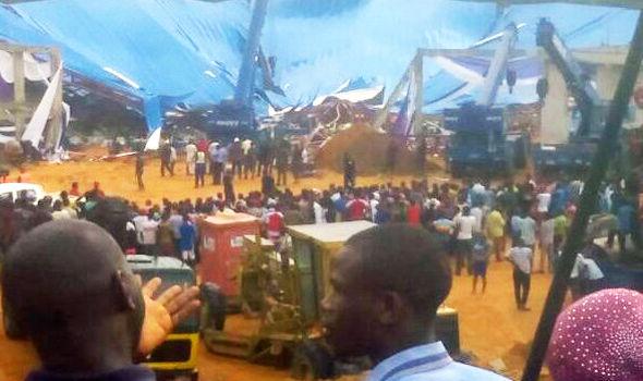 Resultado de imagem para Church roof fall down nigeria