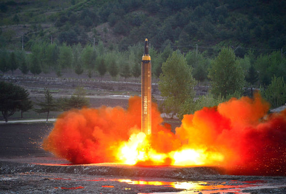 North Korea launched its latest missile test on Saturday