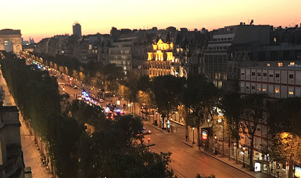 The Champs Elysees is on lockdown