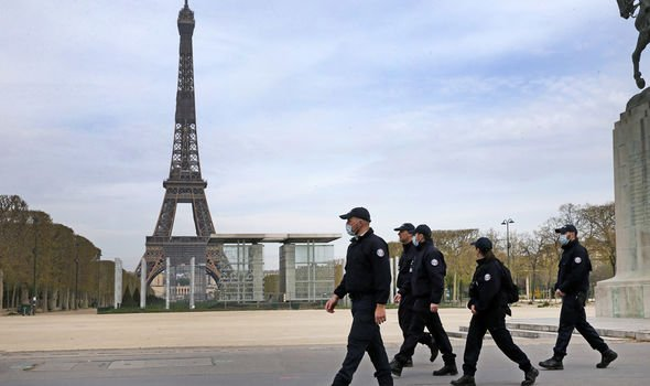 Paris was deserted during the lockdown in March