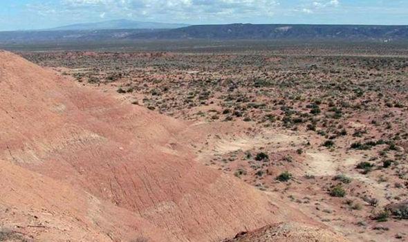 Hillside in Argentina where eggs were found