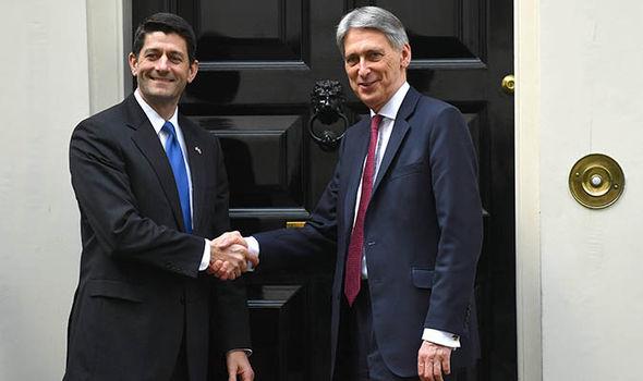 Paul Ryan with Philip Hammond