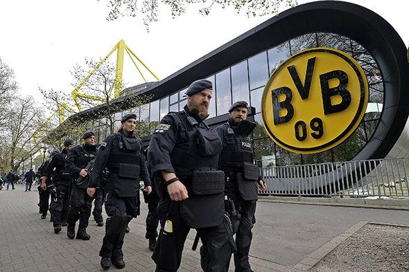 German police outside Dortmund's ground