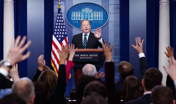 Press Secretary Sean Spicer has faced tough questions after Trump's whirlwind start as President