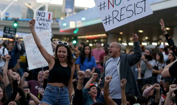 Protests at LAX