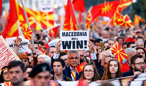 Protests in Macedonia
