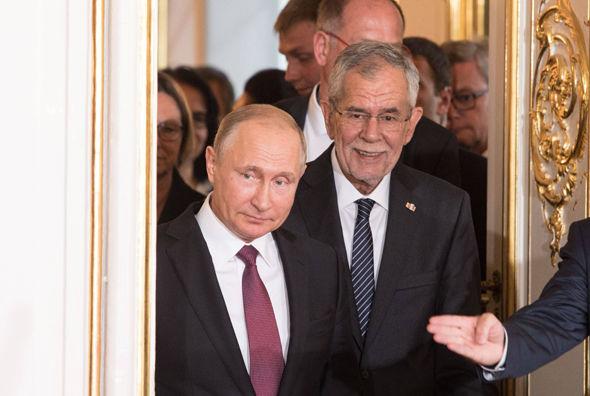 Vladimir Putin and Alexander Van der Bellen