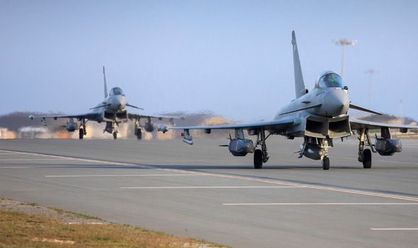 RAF Typhoons attacked ISIS strongholds