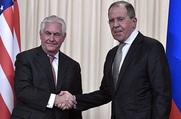 Rex Tillerson Lavrov shared a frosty handshake