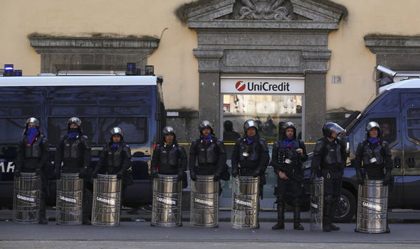 Police officers in Rome