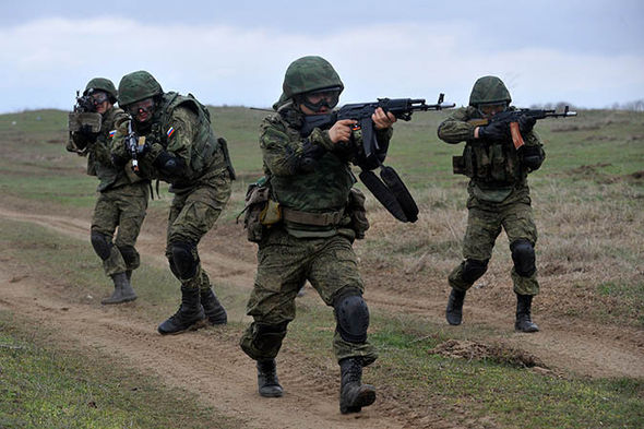 Russian army drills