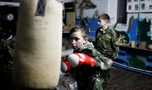 Russia military war children