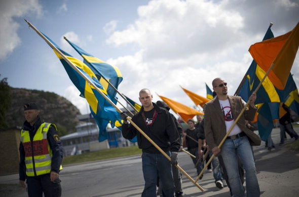 Swedish right wingers campaigned against a mosque